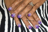 Purple Gradient on acrylic full set