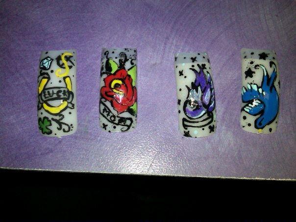 tattoo nails!