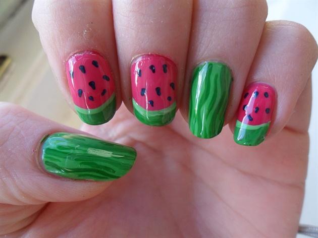 Watermelon nails - Nail Art Gallery