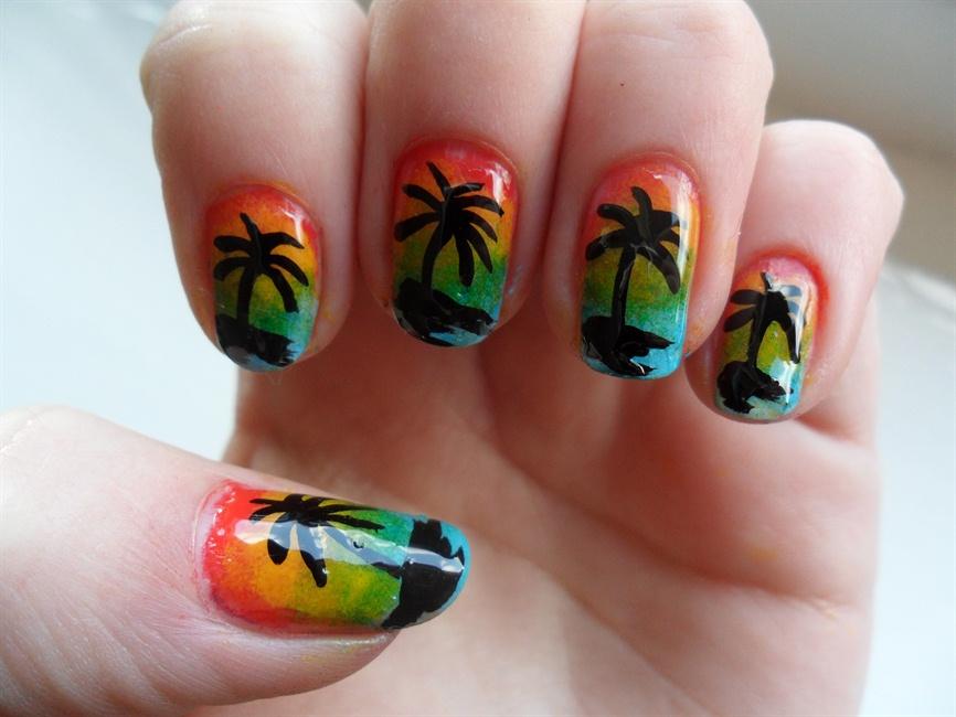 Palm Tree Nails Nail Art Gallery