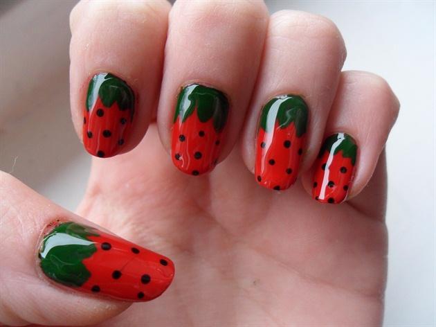strawberry nails - Strawberry Nails - Nail Art Gallery