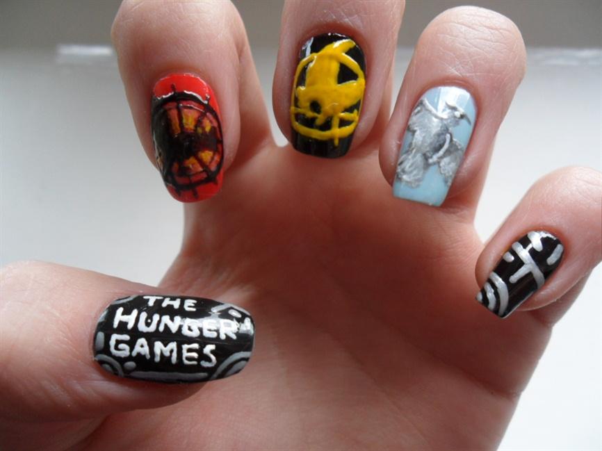 The Hunger Games nails - Nail Art Gallery
