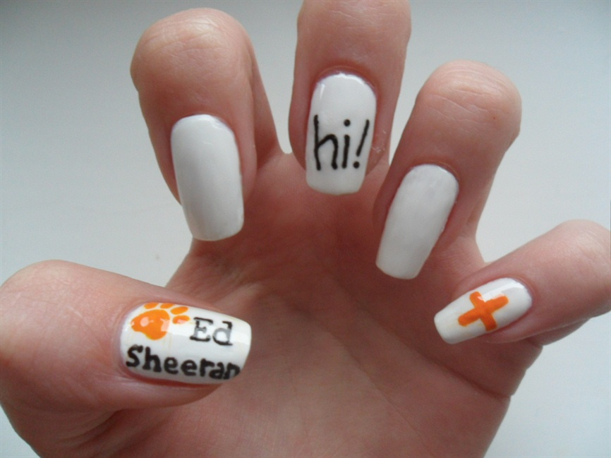 Ed Sheeran nails - Nail Art Gallery