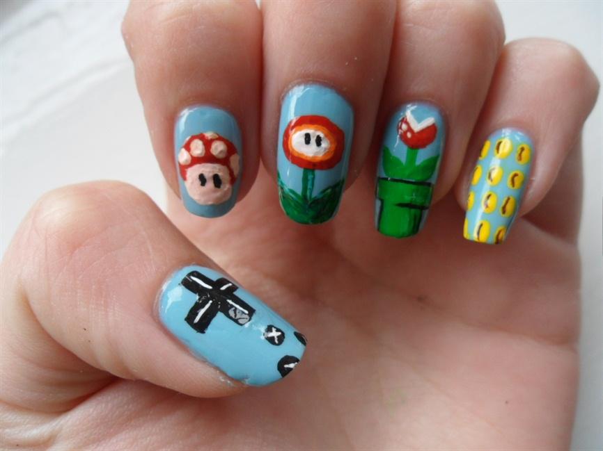 Mario nails - Nail Art Gallery