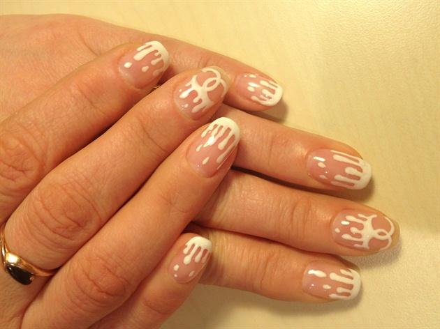 Chanel Rain nail design