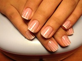 White Polka Dot nails