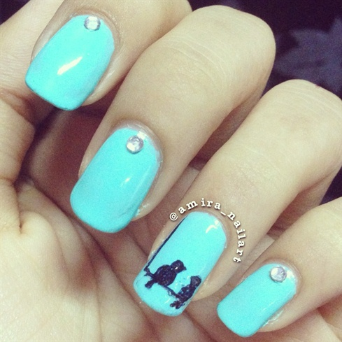 love birds - Love Birds - Nail Art Gallery