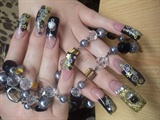 Black and gold bling