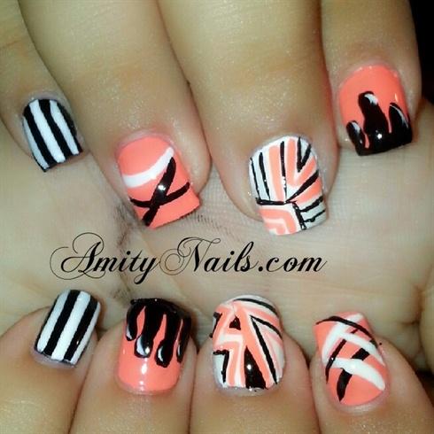 peach nails - Peach Nails - Nail Art Gallery