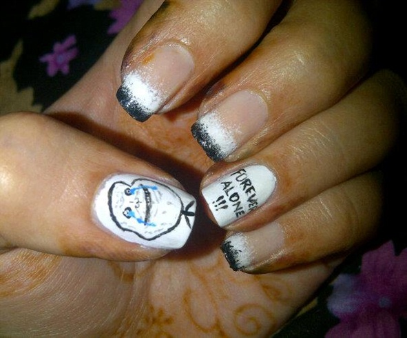 Forever Alone Meme Nail Art Gallery