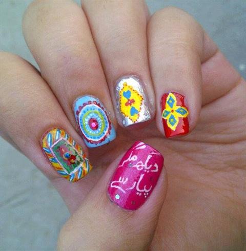 truck art inspired nails