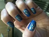 Peacock nail art design...
