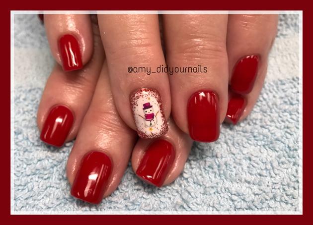 Snowman Manicure