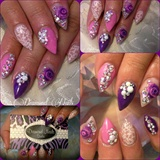 Girly pink&purple