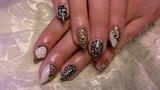 white & gold leopard