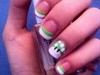 Mario mushroom nail art