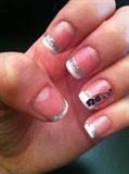 cute french tip nail art