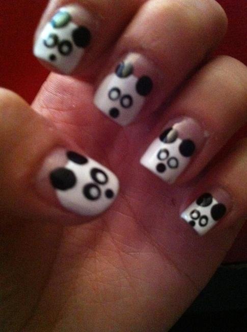panda nail art - Nail Art Gallery