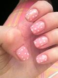 cute polka dot nail art