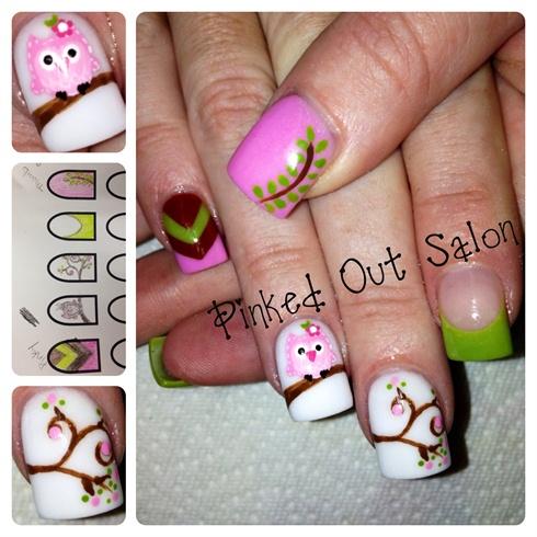 Дизайн ногтей с совой фото