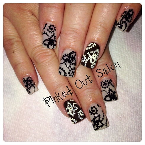 elegant fall  nail art gallery