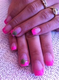 pink french acrylic