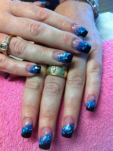 colour acrylic  nail art gallery