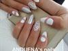 Silver#white#gel#silver#stone#💅
