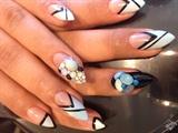 Blue pointy nail