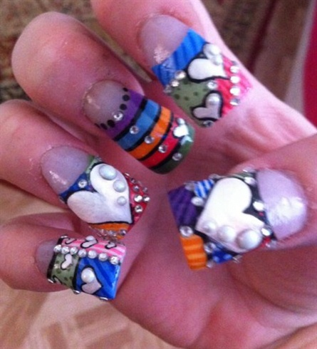 Painted fingernails hand jobs