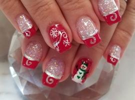 nail art: Mrs. Snowman