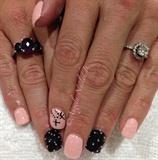 Pink, Black & Caviar Beads