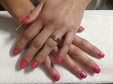 Coral Gel Nails