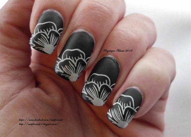 Black Matte Floral Tips