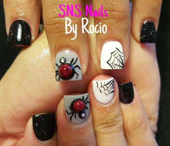 Sns Nails With 3d Nail Art Nail Art Gallery