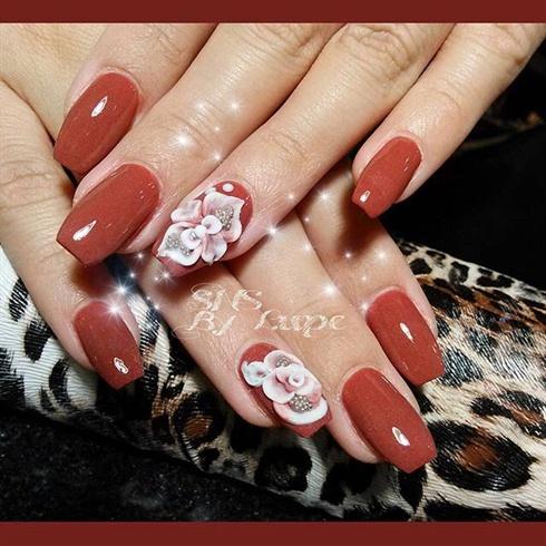 SNS Nails With 3D Nail Art