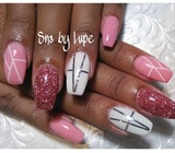 SNS Nails with Design !