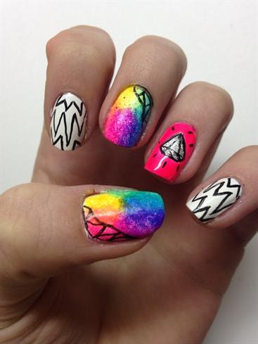 Neon Pop Nails