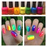 Rainbow Ombre Nails