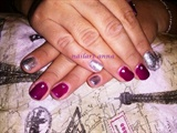 shellac silver and purple