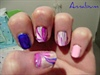 Blue and pink marbling