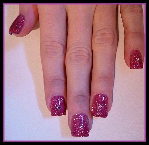 Magenta Glitter Acrylic
