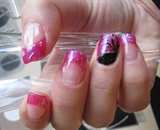 Dark pink with a little nailart