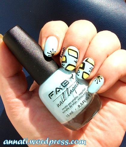 Fifties retro nails