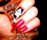 Burlesque nail art