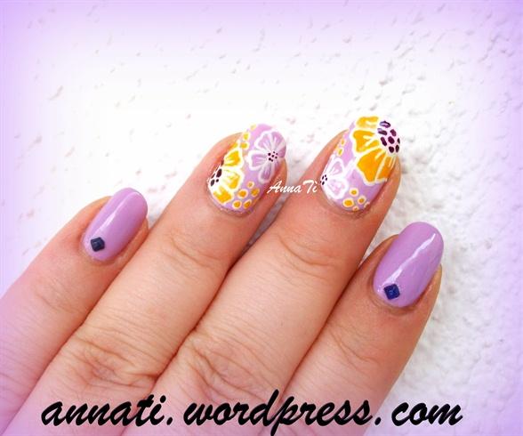 Women's day nail art