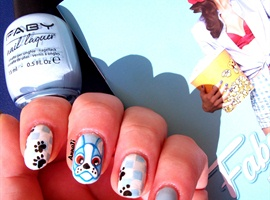 nail art: Boston Terrier Nails