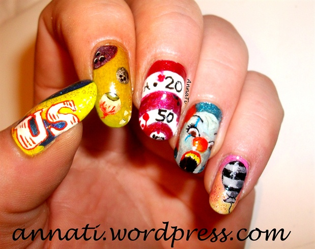 Creepy Circus Nail Art Nail Art Gallery