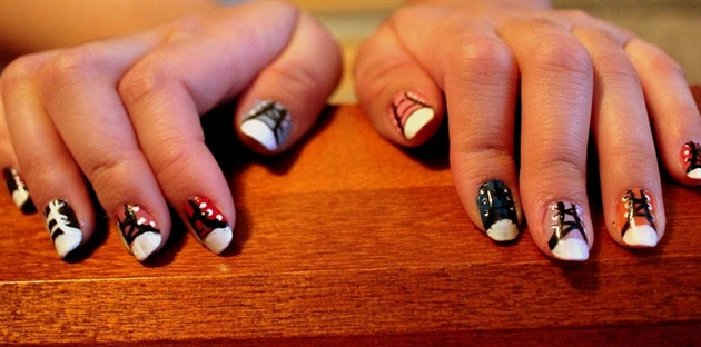 Converse Nails -Back To School Design