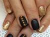 Black matte & Gold Glitter